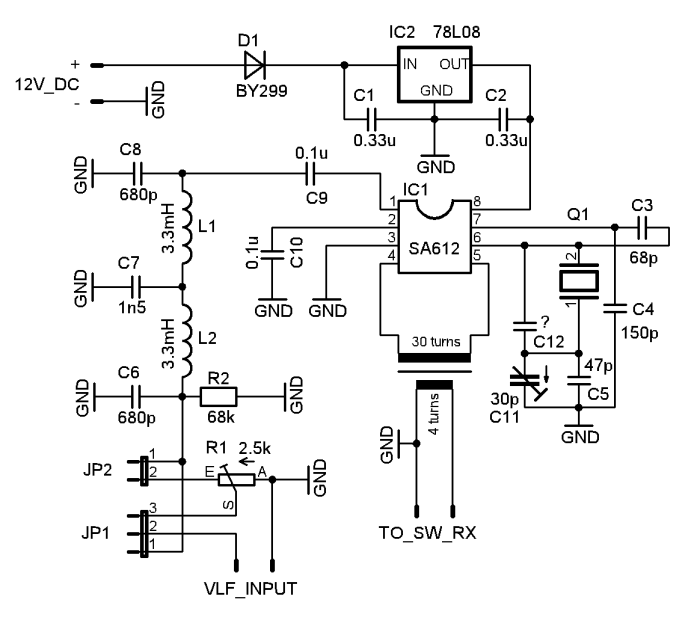Schematic of a converter with SA612