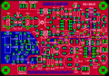 PCB for DC RX with harmonic mixer designed in Eagle